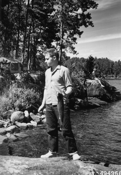 Photograph of Fisherman and Boundary Waters Campsite
