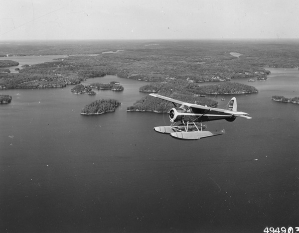 Photograph of Forest Service Beaver Patrol over Burntside Lake
