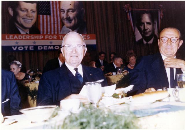 Harry S. Truman at Kennedy-Johnson Fundraising Dinner