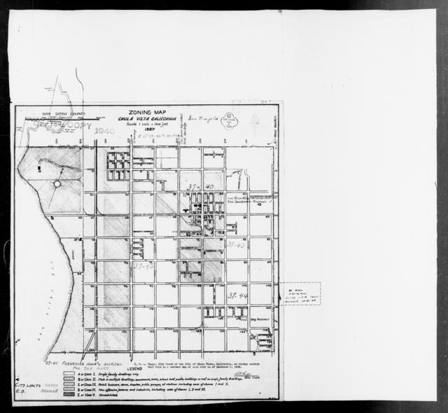 1940 Census Enumeration District Maps - California - San Diego County - Chula Vista - ED 37-40, ED 37-41, ED 37-42, ED 37-43, ED 37-44