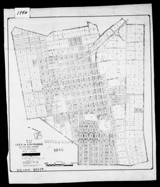 1940 Census Enumeration District Maps - California - San Diego County - Escondido - ED 37-27, ED 37-28, ED 37-29, ED 37-30