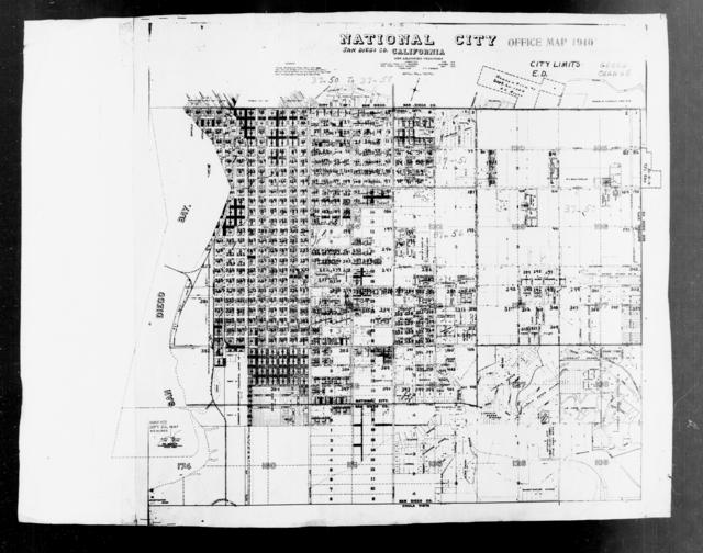1940 Census Enumeration District Maps - California - San Diego County - National City - ED 37-50 - ED 37-58