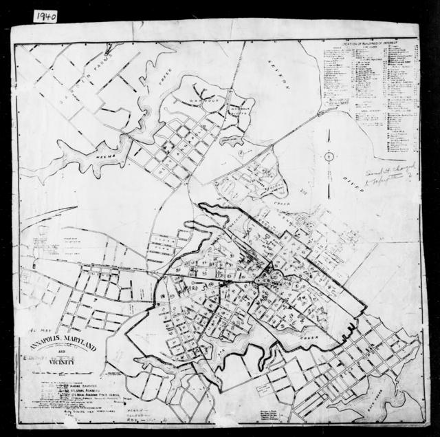 1940 Census Enumeration District Maps - Maryland - Anne Arundel County - Annapolis - ED 2-31 - ED 2-40