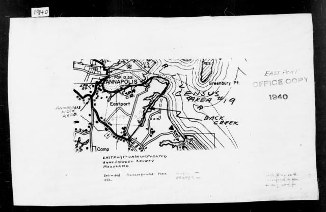 1940 Census Enumeration District Maps - Maryland - Anne Arundel County - Eastport - ED 2-10, ED 2-12