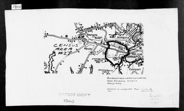 1940 Census Enumeration District Maps - Maryland - Anne Arundel County - Germantown - ED 2-5, ED 2-9
