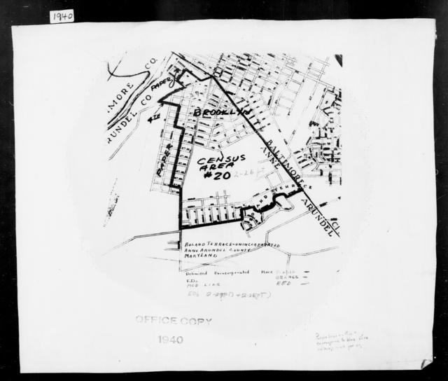 1940 Census Enumeration District Maps - Maryland - Anne Arundel County - Roland Terrace - ED 2-26