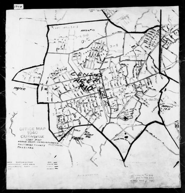 1940 Census Enumeration District Maps - Maryland - Baltimore County - Catonsville - ED 3-2 - ED 3-24