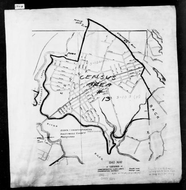 1940 Census Enumeration District Maps - Maryland - Baltimore County - Essex