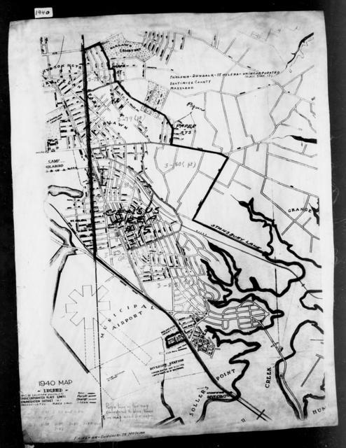 1940 Census Enumeration District Maps - Maryland - Baltimore County - Fairlawn-Dundalk-St. Helena - ED 3-78A, ED 3-79, ED 3-80, ED 3-81, ED 3-82, ED 3-83, ED 3-84, ED 3-86