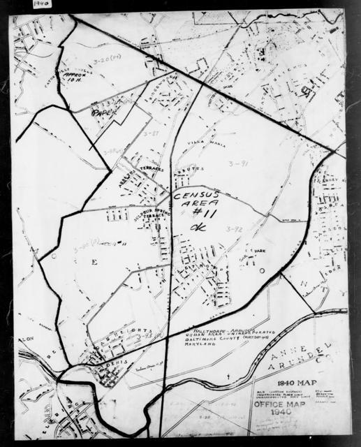 1940 Census Enumeration District Maps - Maryland - Baltimore County - Halethorpe-Arbutus - ED 3-20, ED 3-87, ED 3-88, ED 3-90, ED 3-91, ED 3-92, ED 3-93