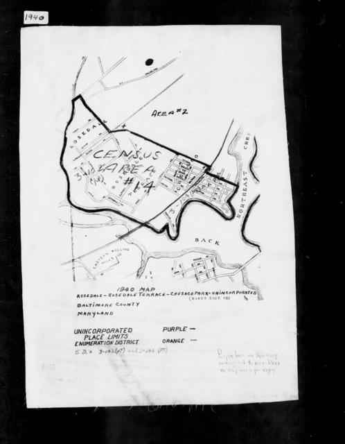 1940 Census Enumeration District Maps - Maryland - Baltimore County - Rosedale-Rosedale Terrace-Chesaco Park