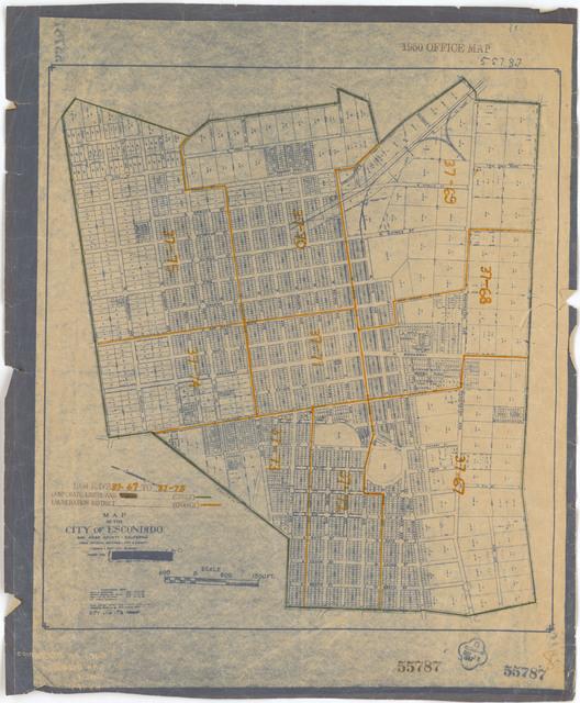 1950 Census Enumeration District Maps - California (CA) - San Diego County - Escondido - ED 37-67 to 75
