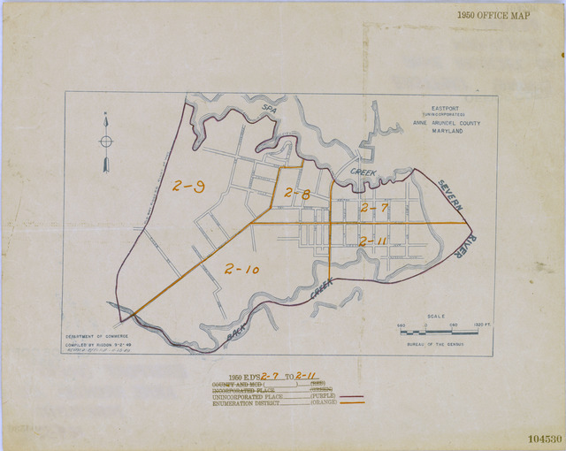 1950 Census Enumeration District Maps - Maryland (MD) - Anne Arundel County - Eastport - ED 2-7 to 11