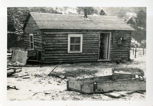 After Construction of House of Joe Little Hawk