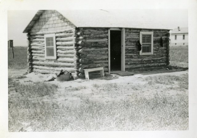 After Construction of Paul Little Thunder's House