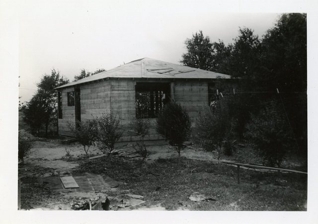 Before Construction Completed on Donald Hudson's House