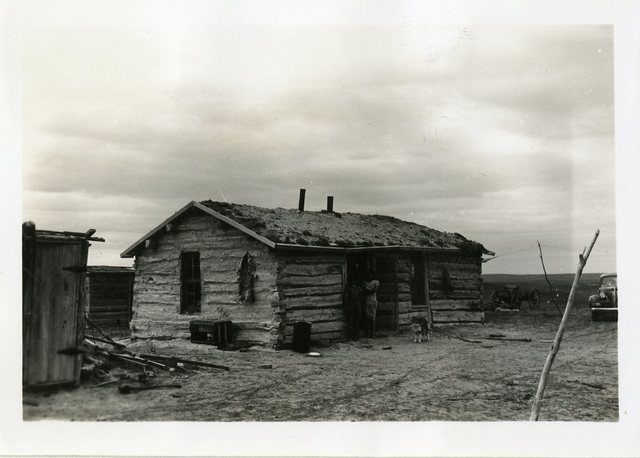 Before Reconstruction of Clinton Black Crow's House