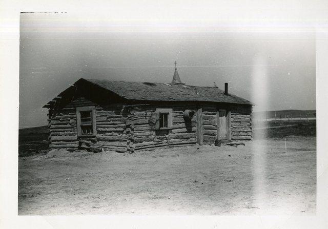 Before Reconstruction of House of Robert Little Thunder