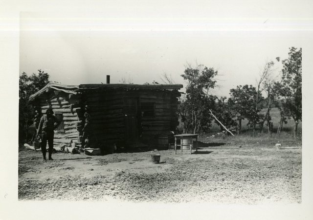 Before Reconstruction of Joshua Road Eagle's House