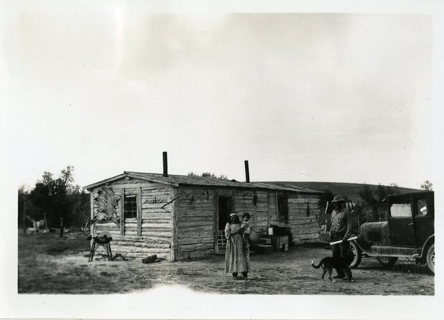 Before Reconstruction of Miles Edward Good Shield's House
