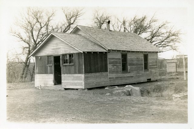 Before Repair of House of Mrs. Alex Wright or Lizzie Eunice