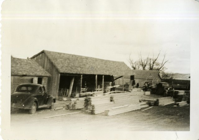 Shed Where Lumber is Fabricated for Two Kettle Project