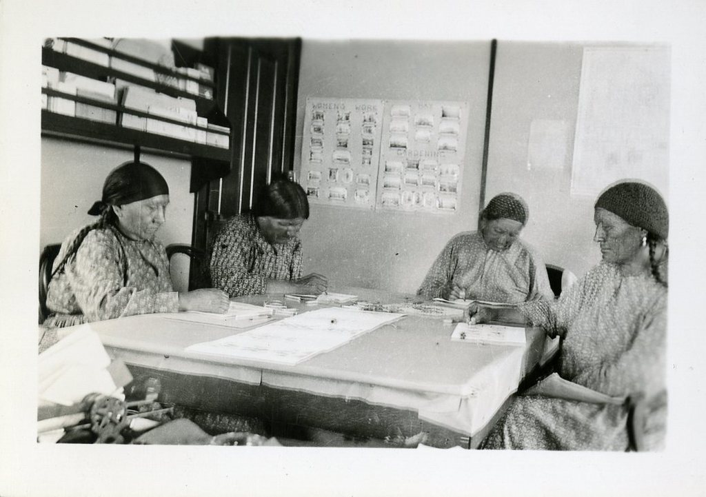 Women Working on a Project at a Table