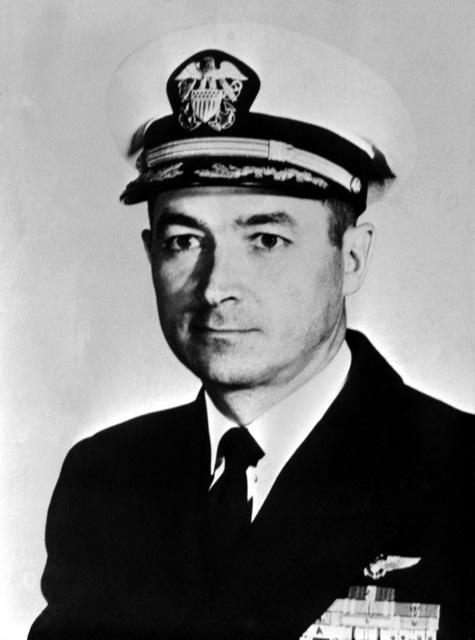 CAPT. William N. Leonard, USN (covered) CO, USS RANGER (CV-61), 1961-1962