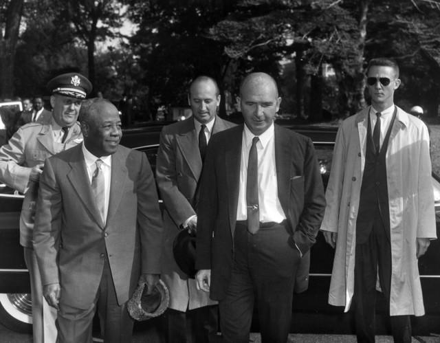 El Ferik Ibrahim Abboud, President of Sudan, Arrives at the White House