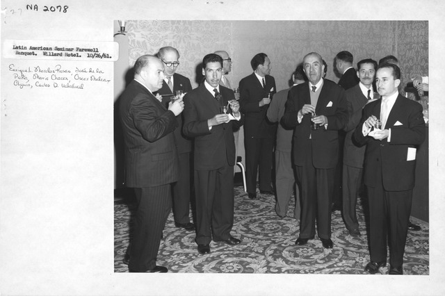 Photograph of Latin American Seminar Farewell Banquet at the Willard Hotel