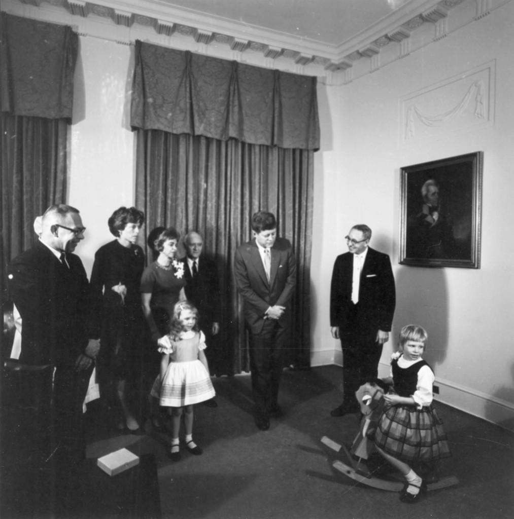 President John F. Kennedy Meets the McGrath Family