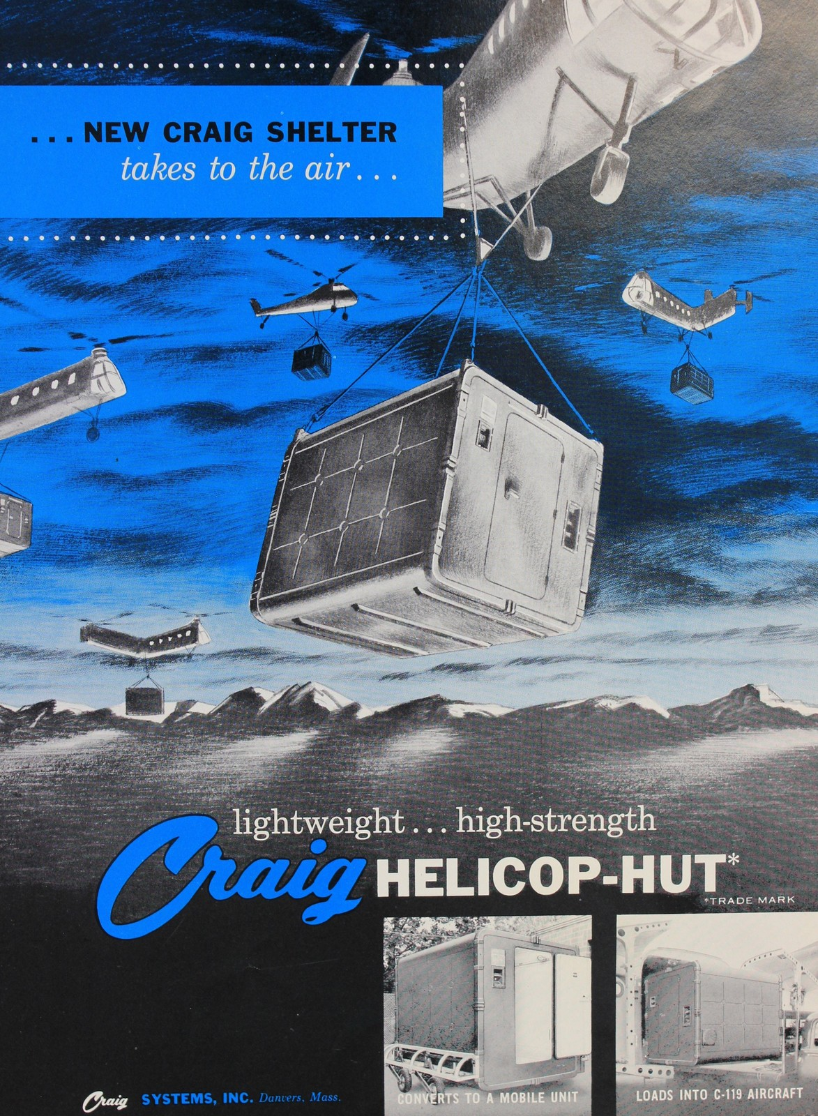 Craig Systems Incorporated Helicop Hut Advertisement