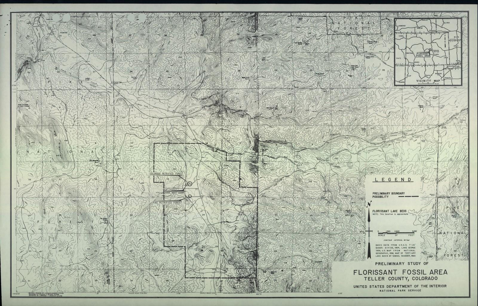 Preliminary Study Of Florissant Fossil Area Teller County Colorado
