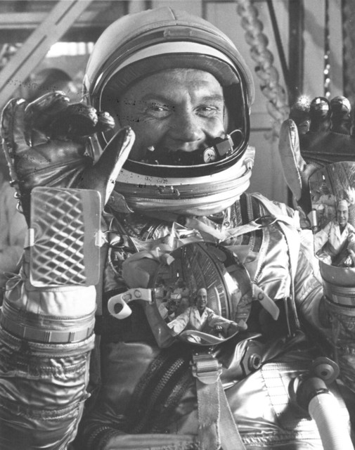 Photograph of Astronaut John H. Glenn, Jr. in His Mark IV Pressure Suit