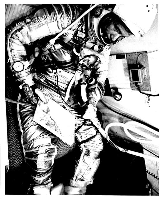 Photograph of Astronaut John H. Glenn, Jr. in Flight Suit prior to Launch