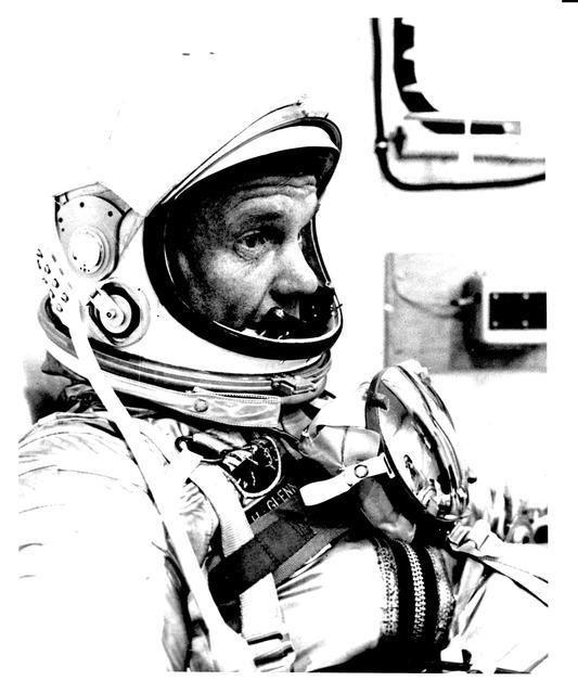 Photograph of Astronaut John H. Glenn, Jr. in His Spacesuit