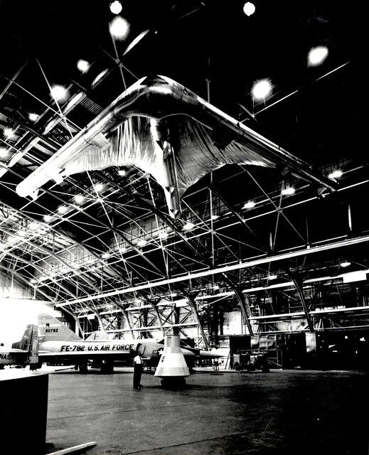 Photograph of an Early Model of the Rogallo Wind for Project Gemini from the National Aeronautics and Space Administration (NASA)