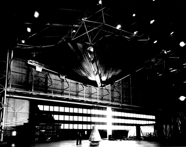 Photograph of Rogallo Wing in Hanger