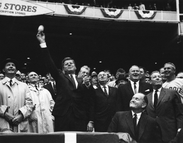 President John F. Kennedy Throws the First Pitch of the 1962 Baseball Season