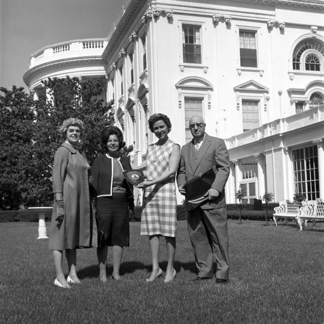 Visitors Present a Gift for First Lady Jacqueline Kennedy