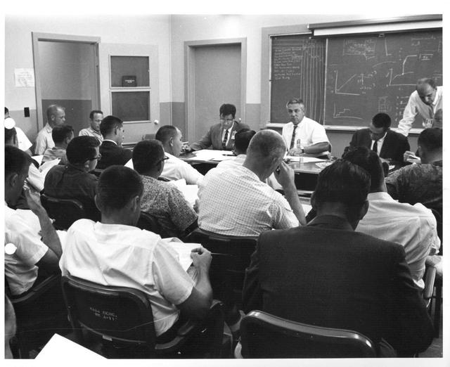 Photograph of Mission Review Meeting