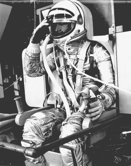 Photograph of Astronaut Scott Carpenter Suited Up and Ready for Aurora 7 Launch