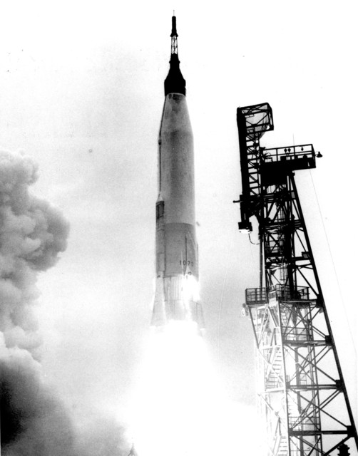 Photograph of Aurora 7 Lifting Off