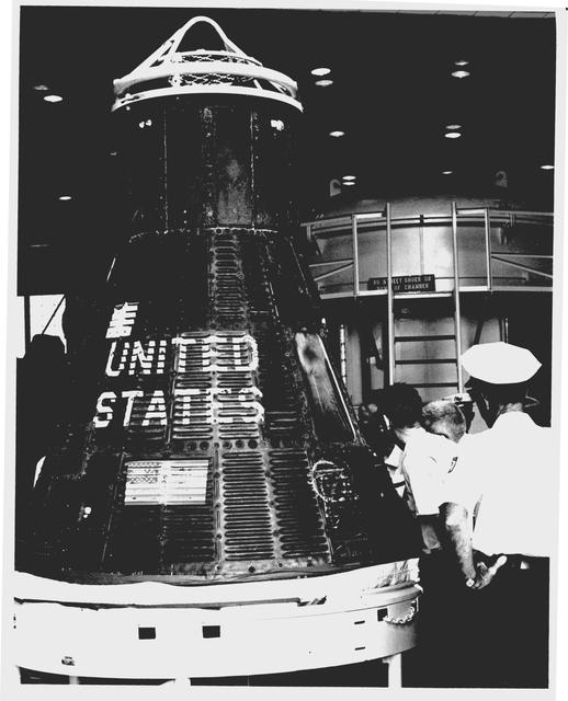 Photograph of Aurora 7 being Inspected