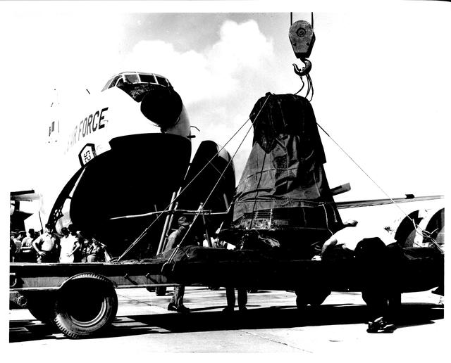 Photograph of Aurora 7 Spacecraft being Returned to Cape Canaveral