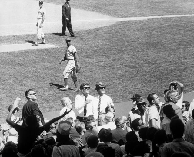 President John F. Kennedy Attends the 1962 All Star Baseball Game at DC Stadium