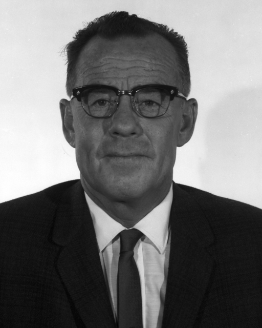 Portrait of Stanley G. Thompson, taken August 16, 1962. Morgue 1962-36 (P-1); CN 952 [Photographer: Donald Cooksey]