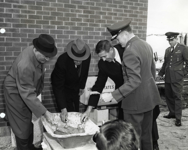 Cornerstone Laying Ceremonies at the Headquarters Building of Hanscom Air Force Base