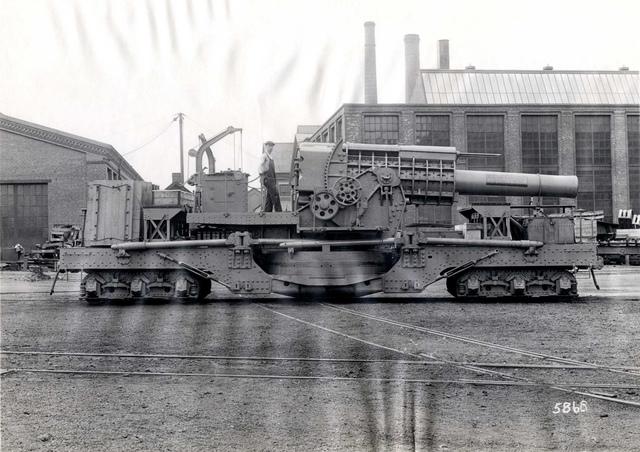 """#5868 12"""" Howitzer R R Mount M 1918"""