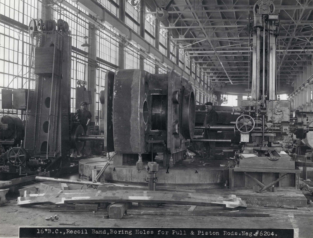 """#6204 16"""" B. C., Recoil Band, Boring Holes for Pull & Piston Rods"""